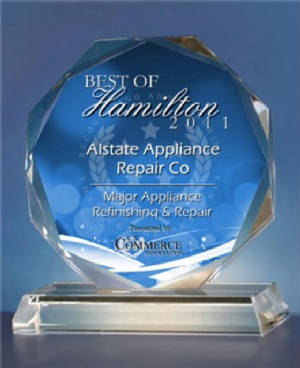 THIS IS OUR 2011 AWARD FOR BEST SERVICE IN HAMILTON OHIO